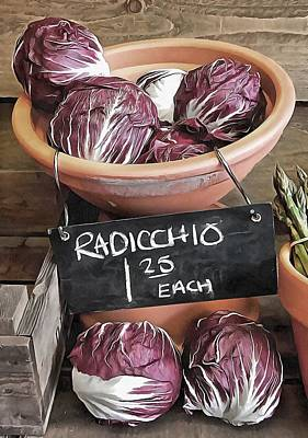 Photograph - Radicchio Rustic Display by Dorothy Berry-Lound