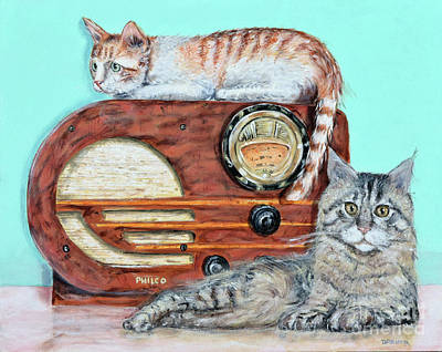 Painting - Radio Cats by Chris Dreher