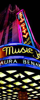 Vibrant Photograph - Radio City Music Hall by Az Jackson