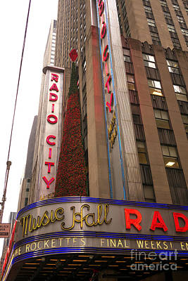 Photograph - Radio City Music Hall Christmas Tree by John Rizzuto
