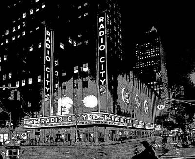 Photograph - Radio City Music Hall by David Pantuso