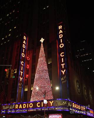 Photograph - Radio City Music Hall During The Holidays by John Telfer