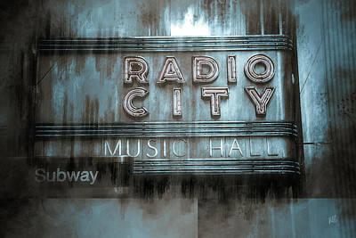 City Scenes Mixed Media - Radio City Music Hall by Melissa Smith