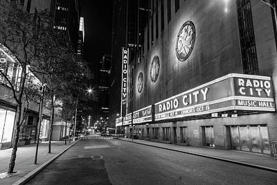 Personalized Name License Plates - Radio City Music Hall NYC Black and White  by John McGraw