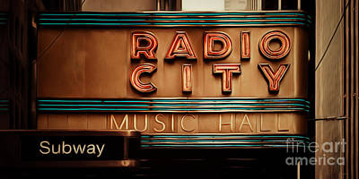 Photograph - Radio City Music Hall Rockefeller Center Midtown Manhatten New York City Painterly 20170917 Long by Wingsdomain Art and Photography