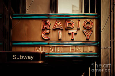 Photograph - Radio City Music Hall Rockefeller Center Midtown Manhatten New York City Painterly 20170917 by Wingsdomain Art and Photography