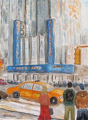 Radio City Ny Art Print