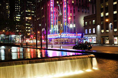 Photograph - Radio City Reflections by Dennis Ludlow