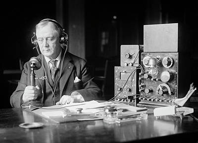 Photograph - Radio Enthusiast 1923 by Daniel Hagerman