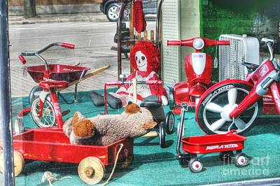 Radio Flyer Art Print by David Bearden