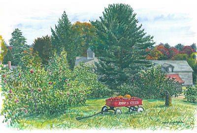 Painting - Radio Flyer Shelburne Farm by Bill McEntee