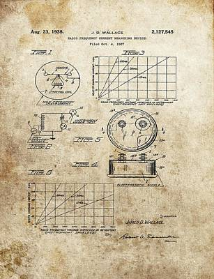 Radio Frequency Measuring Device Patent Art Print by Dan Sproul
