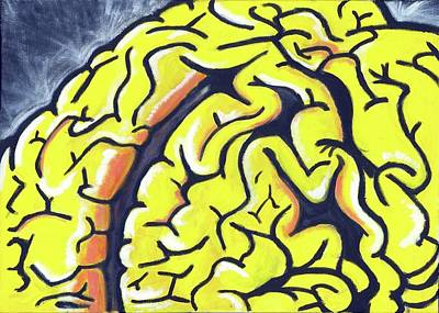 Brain Painting - Radioactive by Kelly Murray