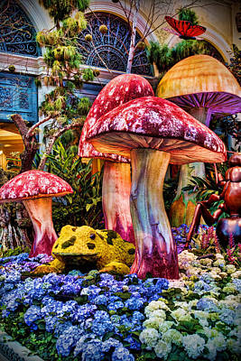Photograph - Radioactive Mushrooms by Ricky Barnard