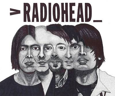 Thom Yorke Drawing - Radioheads by Mark Richardson