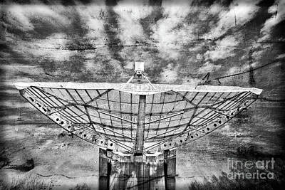 Photograph - Radiotelescope Focus To The Sky In Grunge Style by Michal Boubin