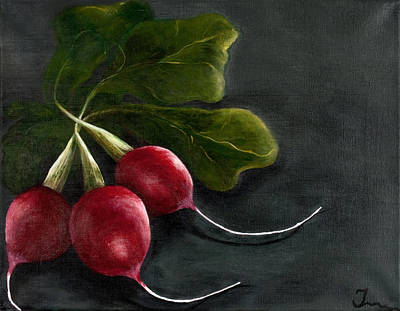 Radishes Art Print by Christina Burke-Gagnon