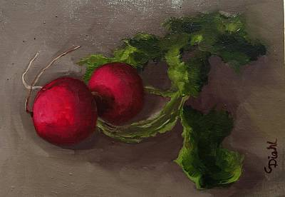 Painting - Radishes by Grace Diehl