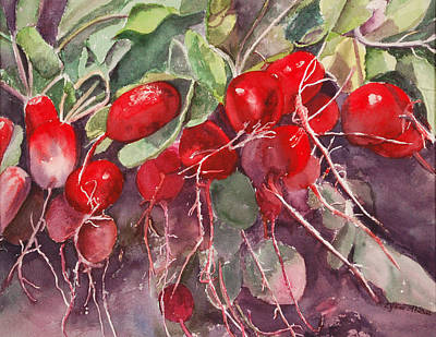 Painting - Radishes by Lynne Atwood