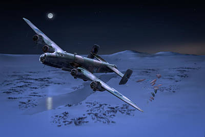 Digital Art - Raf Halifax Soe Drop by Gary Eason