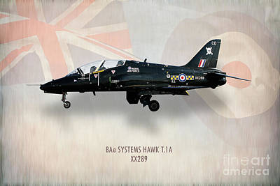 Hawk Digital Art - Raf Hawk T.1a Xx289 by J Biggadike