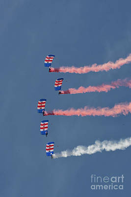 Airshow Photograph - Raf Parachute Display Team by Nichola Denny