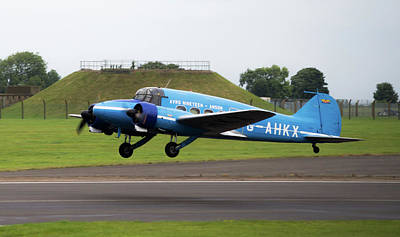 Photograph - Raf Scampton 2017 - Avro Anson Nineteen During Take Off by Scott Lyons