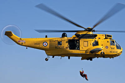 Raf Sea King Search And Rescue Helicopter 2 Art Print