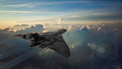 Digital Art - Raf Vulcan Sunrise by James Vaughan