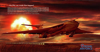 Digital Art - Raf - Wheels Up In 5 - Text by James Vaughan
