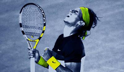 Venus Williams Mixed Media - Rafael Nadal 1a by Brian Reaves