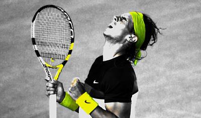 Venus Williams Mixed Media - Rafael Nadal by Brian Reaves
