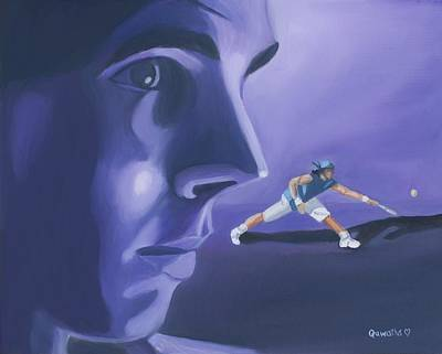 Raphael Nadal Painting - Rafael Nadal by Quwatha Valentine