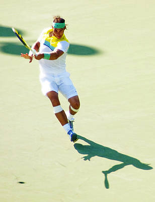 Photograph - Rafael Nadal Shadow Play by Steven Sparks