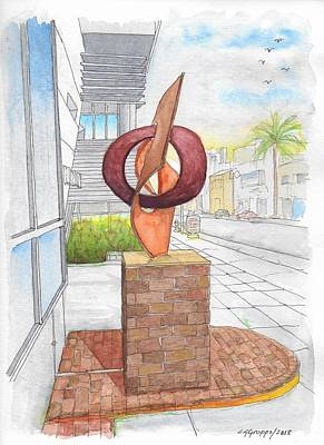 Painting - Rafe Affleck Sculpture Untitle In Beverly Hills, California by Carlos G Groppa