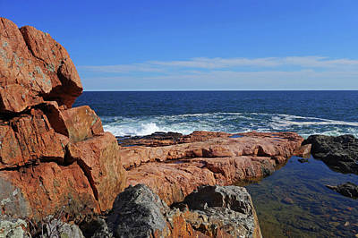 Photograph - Rafe's Chasm Gloucester Ma North Shore Rocky by Toby McGuire