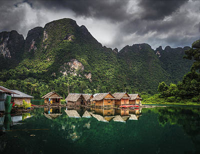 Photograph - Raft Houses at Khao Sok by Ander Alegria