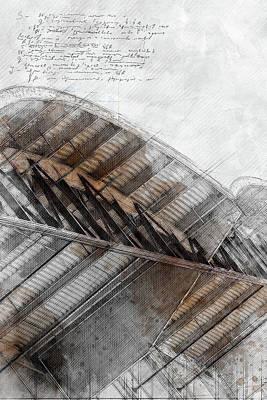 Digital Art - Rafter by Jos Verhoeven