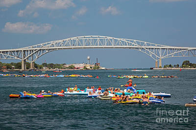 Photograph - Rafters On St. Clair River by Jim West