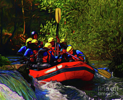 Photograph - Rafting 16218 by Ray Shrewsberry