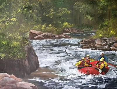 White Water Rafting Painting - Rafting In Colorado by Marti Idlet