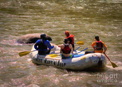 White Water Rafting Painting - Rafting The Animas by Janice Rae Pariza