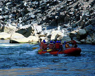 Photograph - Rafting The Wind River Canyon 1 by George Jones