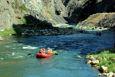 Photograph - Rafting The Wind River Canyon 2 by George Jones