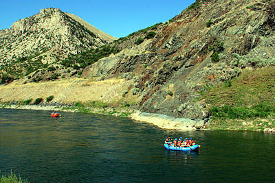 Photograph - Rafting The Wind River Canyon3 by George Jones