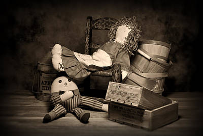 Toys Photograph - Rag Doll by Tom Mc Nemar