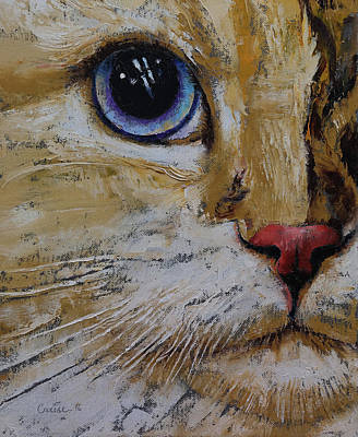 Feline Painting - Ragamuffin by Michael Creese