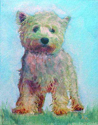 Painting - Ragamuffin Pup by Richard James Digance