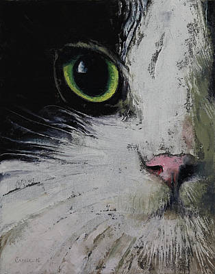 Rag Doll Painting - Tuxedo Cat by Michael Creese