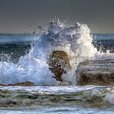 Winter Storm Photograph - Rage Of The Sea by Stelios Kleanthous